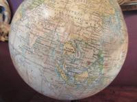 "Antique 8"" Paper Mache Terrestrial Globe (4 of 8)"