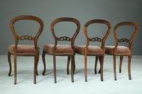 Set of 4 Rosewood Balloon Back Dining Chairs (2 of 12)