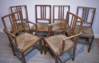 Set of 6 Heals Oak Dining Chairs c.1930 (6 of 9)