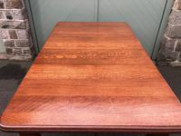 Antique Golden Oak Wind Out Extending Dining Table (11 of 11)