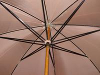 Antique Fawn Coloured Canopy Umbrella With Billiard Inspired Ball Handle (6 of 14)
