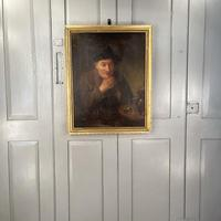 Antique Victorian Oil Painting Portrait of Man with Hat in Inn Pub Ale House (10 of 10)