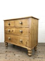 Antique Pine Straight Front Chest of Drawers (6 of 10)