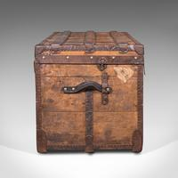 Large Antique Steamer Trunk, English, Pine, Travel, Shipping Chest, Victorian (4 of 12)