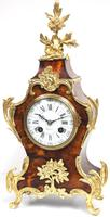 Antique French Shell & Ormolu 8-Day Striking Mantel Clock Rococo Boulle Case Segment Dial Signed (3 of 13)