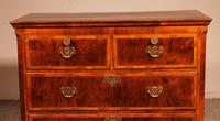 Fine Early 18 Century Walnut & Burr Walnut Chest of Drawers from England (5 of 12)