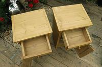 Nice Quality Old Stripped Pine Bedside Cabinets (6 of 9)