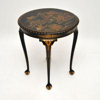 Antique Lacquered Chinoiserie Occasional Table (2 of 12)
