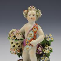 Derby Porcelain Figure Putto On Scrolled Base c.1765 (10 of 11)