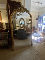 Very Large Arched Mirror with Scrolling Flowers (4 of 9)