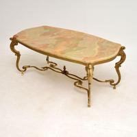 Antique French Onyx & Brass Coffee Table (7 of 12)