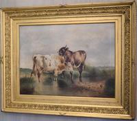 Large Oil Painting by William Perring Hollyer Titled 'Courtship' (3 of 10)
