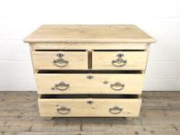 Small Antique Pine Chest of Drawers (5 of 9)