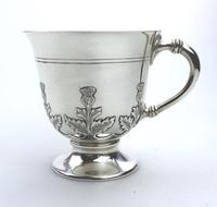 Fine & Rare Scottish Solid Silver Small Tankard by Hamilton & Inches c.1922 (3 of 9)