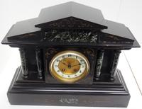 Fine Slate & Marble Mantel Clock 8 Day Striking Mantle Clock (5 of 9)