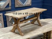 Rustic French Bleached Oak Coffee Table (20 of 20)