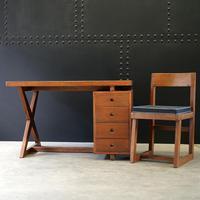 X- Leg Administrative Desk by Pierre Jeanneret c.1960 (7 of 7)