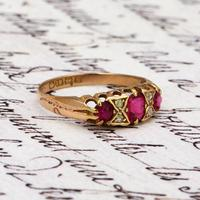 The Antique 1917 Ruby & Diamond Gold Ring (2 of 3)