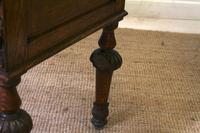 Oak Desk Green Man 19th Century (8 of 13)