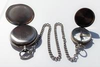 Victorian Solid Silver Omega Gurzelen Pocket Watch & Solid Silver Albert Chain (4 of 8)
