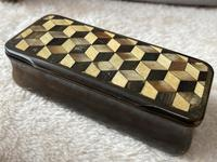 Early Victorian Horn Inlaid Snuff Box (7 of 11)