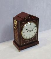 Regency Mahogany Bracket Clock by Thomas Connald (5 of 8)