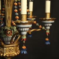 Florentine 6 Light Polychrome Antique Chandelier (5 of 10)