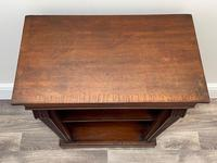English Small Regency Style Dwarf Recessed Mahogany Open Bookcase (21 of 44)