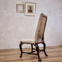 18th Century Ebonised & Upholstered Queen Anne Side Chair (8 of 13)