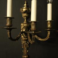 French 19th Century Pair of Bronze Antique Wall Sconces (2 of 10)