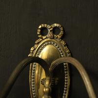 French Brass Twin Arm Antique Wall Lights (3 of 10)
