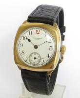 Gents 9ct Gold Waltham Wrist Watch, 1930