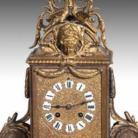 Unusual French Gilt Bronze Mantel Clock (2 of 6)