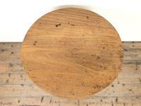 Antique Oak Circular Tripod Table (3 of 9)