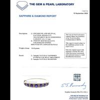 Antique Victorian Sapphire Diamond Bangle 18ct Gold 5.46ct Of Natural Sapphire With Cert (3 of 7)