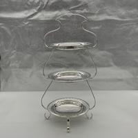 Edwardian Silver Plate Three Tier Cake Stand Fenton Brothers c.1900 (3 of 9)