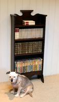 Arts & Crafts Dark Oak Open Bookcase (4 of 9)