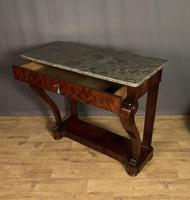 French Louis Philippe Period Mahogany Console Table (3 of 12)