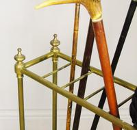 Late Victorian Brass & Cast Iron Stick Stand (5 of 6)