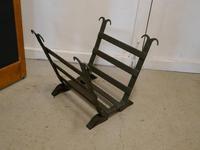 19th Century Blacksmith Made Inglenook Iron Log Carrier (4 of 7)
