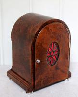 Burr Walnut Arch Top Bracket Clock (11 of 11)
