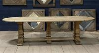 Huge French Bleached Oak Monastery Dining Table (28 of 30)