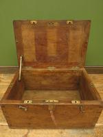 Antique Oak Chest, Early 19th Century Storage Chest for Weights, Lockable (6 of 21)