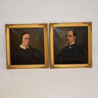 Pair of Antique Portrait Oil Paintings (3 of 12)