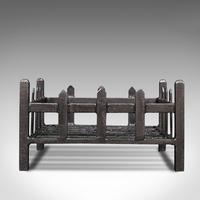 Antique Fireplace Grate, English, Cast Iron, Fire Basket, Late Victorian c.1900 (5 of 10)