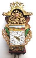 Wow! Antique 18th Century Dutch Stoelklok Wall Clock Verge Wall Clock (7 of 12)
