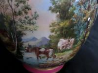 Large Vase Depicting Pastoral Scene with Cattle etc (2 of 6)