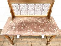 Antique Pine Tile Back Washstand (6 of 15)