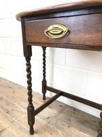 Antique Oak Demi-lune Console Table (5 of 14)