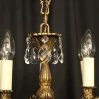 Italian Pair of 5 Light Antique Chandeliers (5 of 8)